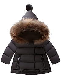 ARAUS Giubbino con Cappuccio da Bambine Bimbe Cappotto Impermeabile Incappucciato Inverno Autunno