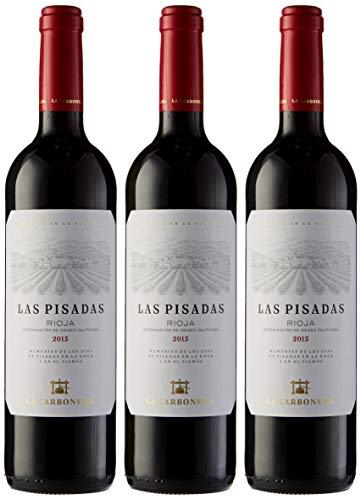 3 botellas de vino tinto Las Pisadas por sólo 17,81€ ¡¡48% de descuento!!
