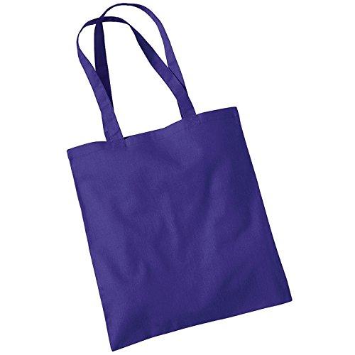 Westford Mill Promo Baumwolle, Damen Schultertasche, Tragetasche Violett - Violett