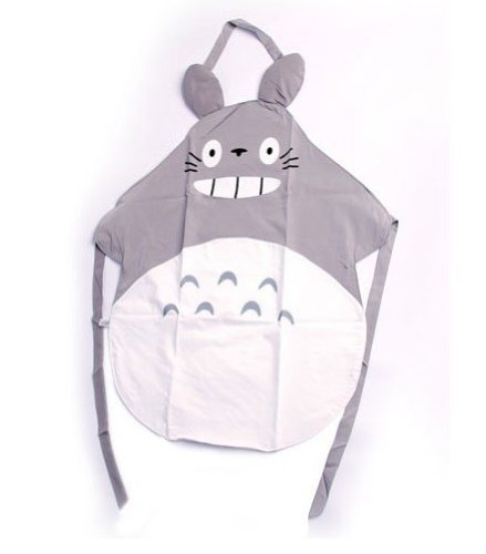 ERGEOB® Studio Ghibli My Neighbor Totoro Gray Apron Küche Schuerze Home Wear Cosplay - Home-schürze