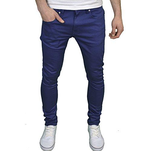 SoulStar Herren-/Jungen-Jeans, Designer-Marke, Skinny Fit, Stretch Gr. 30W x 30L, königsblau