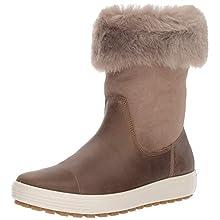 ECCO Women's Soft 7 TRED Boot High, Brown Navajo Brown Moon Rock 57511, 3.5 UK