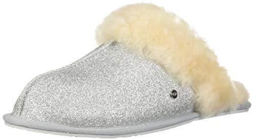 UGG Australia Damen Hausschuhe Scuffette II Sparkle 1100177 Silber 570823