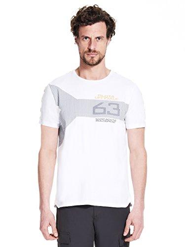 Automobili Lamborghini Herren T-Shirt 63 Pilota Ufficiale Lamborghini White M - Lamborghini-shirt