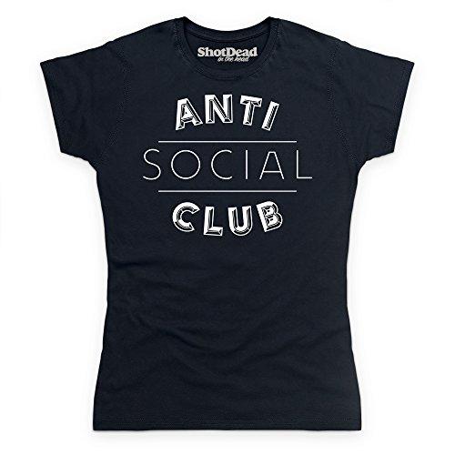Anti Social Club T-Shirt, Damen Schwarz