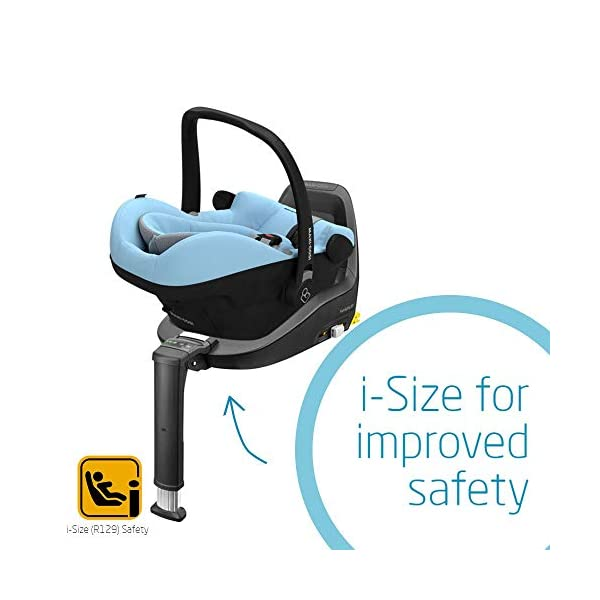 Maxi-Cosi Pebble Plus Baby Car Seat Group 0+, ISOFIX Car Seat, i-Size, 0-12 m, 0-13 kg, 45-75 cm, Sky Maxi-Cosi Baby car seat, suitable from birth to approximate 1 year (0-13 kg, 45-75 cm) Fits with compatible Maxi-Cosi base unit for ISOFIX installation i-Size for enhanced safety and optimal protection against side impacts 5