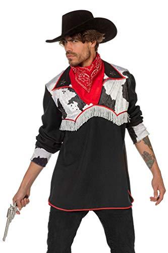 Karneval-Klamotten Cowboy Kostüm Männer Cowboy-Hemd Herren Kuh Größe 56 (Cowboy Männer Kostüm Für)