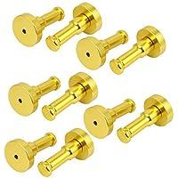 DealMux aluminio montado en la pared redonda gancho del traje ropa de la  suspensión de oro 4baea734855