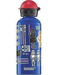 SIGG Star Wars Classics, Kinder Trinkflasche, 0.6 L, Auslaufsicher, BPA Frei, Aluminium, Blau