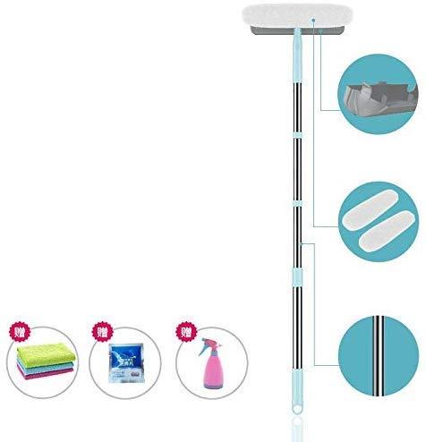 Zichen Fensterreiniger Glasreiniger DREI einstellbare Teleskopruten bis zu 170cm High Glass Cleaning Tools (Größe: B) (Size : A)