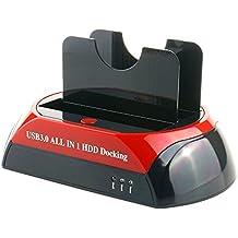 WANLONGXIN WLX-875U3-J USB 3.0 a SATA y IDE Dual Bahía Externo Disco Duro Estación de Acoplamiento Para 2.5 y 3.5 Pulgadas IDE y SATA I / II / III HDD SSD