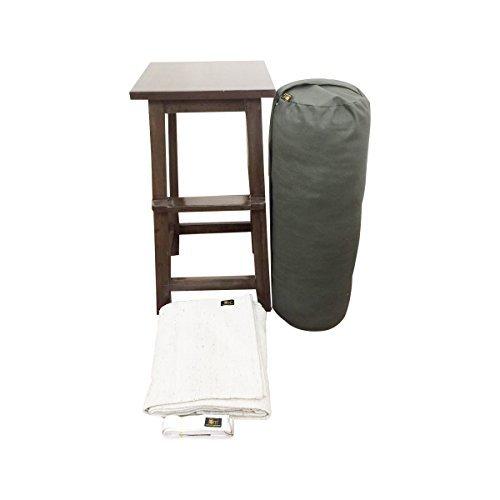 FOM (Friends of Meditation) kit ricostituente (stool & bolster alto) prop per asana yoga e yoga riparatoria (ry-3) preisvergleich