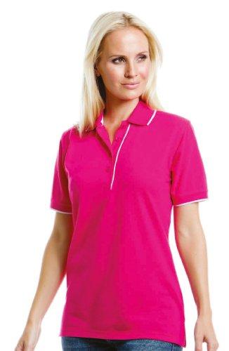 Kustom Kit - Ladies' Essential Polo Shirt Raspberry/White