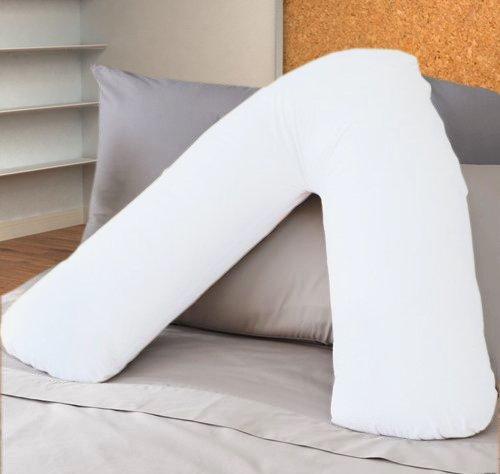 ||jaaz textile|| _ _ blanco Color _ _ V forma de almohada casos de percal calidad apoyo polialgodón...