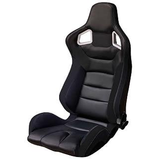 AutoStyle RS6 Sportsitz, PVC, beidseitig, Schwarz