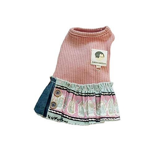 QLMS 2019 Neue frühling und Sommer Hund Kleidung nationalen Wind große schaukel Rock pet Kleidung Teddybären welpen (Color : Pink, Size : - National Kostüm Dress Up