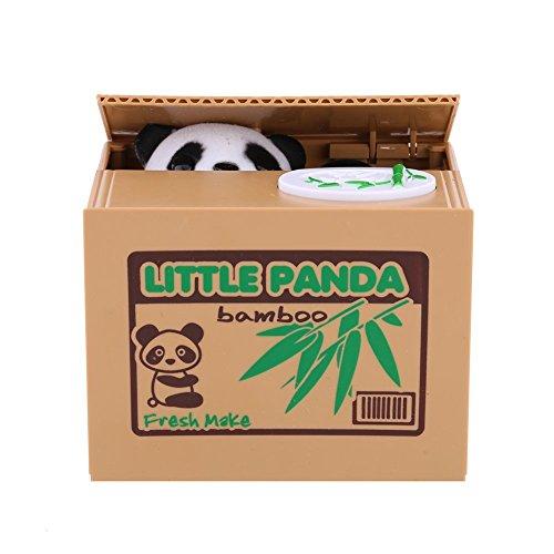 Yosoo Tirelire de Chat / Panda, Tirelire Automatique avec Son, Tirelire divertissante de chat qui vole argent, jouets pour enfants, cadeau original (Panda Boîte Bamboo)