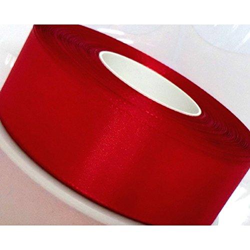 NUOLUX 50 * 4cm tinta Dacron fiocco nastro regalo Curling nastro (rosso)