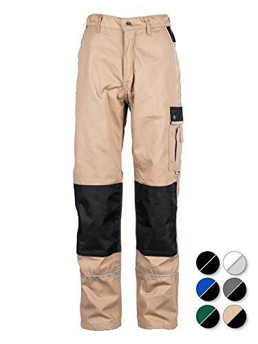TMG®Pantalon de Travail pour Hommes | Kaki | XS-7XL | Pantalons de Sécurité | avec Genouillère Intégrée | Vêtements de Travail pour Les Menuisiers 56