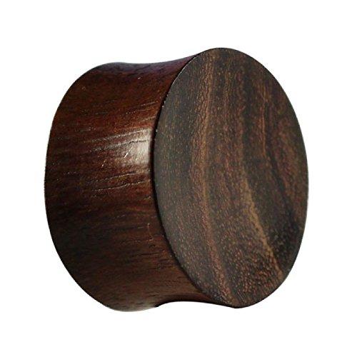 Chic-Net Teakholz Holz Plug Tunnel Expander Unisex Ohrschmuck Organic Ohrstecker Ohrringe Piercing 10 mm