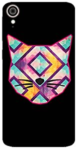 The Racoon Grip Catitude hard plastic printed back case / cover for HTC Desire 828