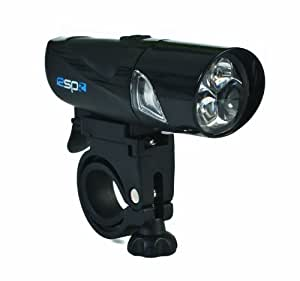 Raleigh 3 LED Front Bicycle Light - Black, 11 x 3.5 x 3.5 cm