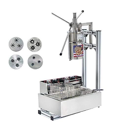 BAOSHISHAN 5L espagnol Churros machine à pain Commercial Outil Professionnel de machine à Churros de cuisine cuisson Pâtisserie avec cutter avec 12L friteuse électrique 220–240 V CE