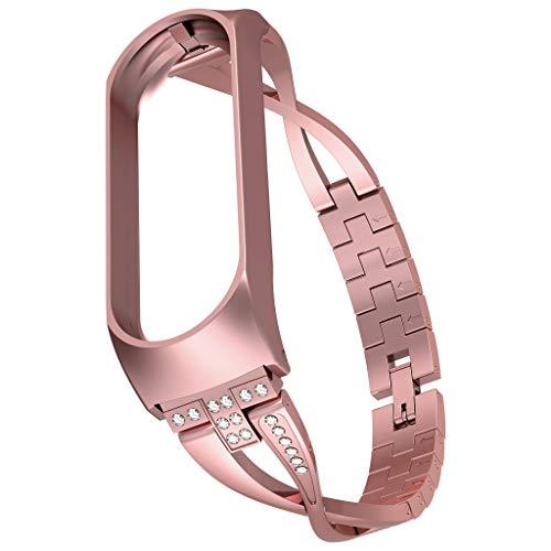NEU! Uhrenarmband für Xiaomi Mi Band 4, Tensay Luxus Diamant Edelstahl Ersatzarmband Ersatz Armband Sport Gurt Armband für Xiaomi Mi Band 4