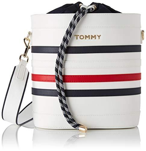Tommy Hilfiger Item Staple Bucket, Sac porté main femme, Multicolore (Corporate), 1x1x1 cm (W x H L)