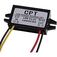 Youn DC a DC convertidor regulador 12 V a 5 V 3 A 15 W coche LED Display fuente de alimentación