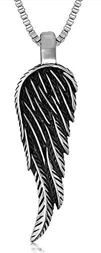 XBYN Männer Retro Titan Stahl Feder Flügel Anhänger Halskette (Feder-flügel Zum Verkauf)