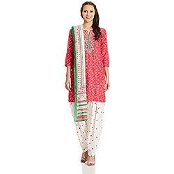 BIBA Women's Straight Salwar Suit (SKD4978_pink_38)