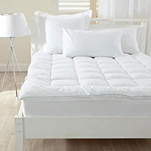 Rajasthan Crafts Mattress Topper/Padding (King Size Double Bed (72inch x 78inch), White)