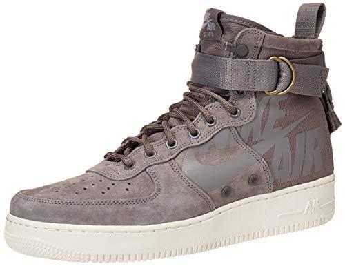 Nike Men's SF Air Force 1 Mid Shoe, Scarpe da Ginnastica Basse Uomo, Multicolore Gunsmoke/Wolf Grey/Summit White 001, 45 EU