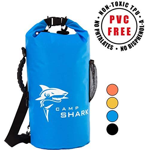 RevalCamp Dry Bag 5L Blau - Nicht Krebserregendes PVC* - wasserdichte Tasche aus TPU - Kein übler Geruch, Bessere Elastizität and Längere Lebensdauer - Für den modernen Abenteurer entworfen