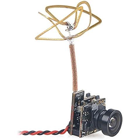 Crazepony FPV Cámara Chillido de la Pequeña Cámara 5,8 G 40CH 25mW Transmisor con Antena de Hoja de Trébol Polarizado Circular para Hoja Inductrix