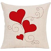 DIPOLA Funda de Almohada Happy LoveS Day Throw Funda de cojín Sweet Love Square Regalo para