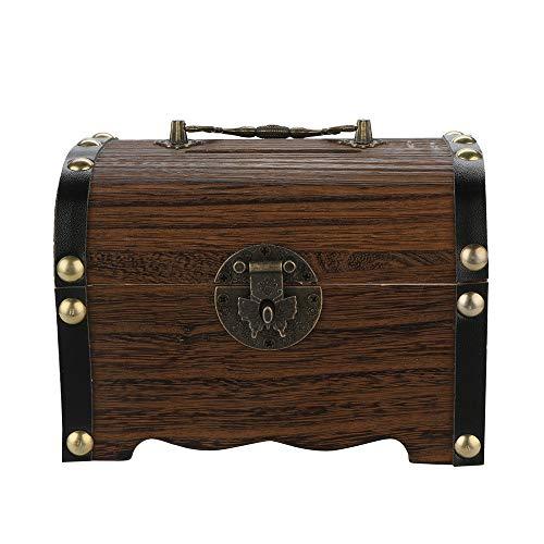 Cajas de madera antiguo inspirado dinero de ahorro, caja de ahorro dinero Hucha Caja fuerte con cierre talla de madera hecho a mano caja de dinero para los niños chicos, chicas y adultos regalo