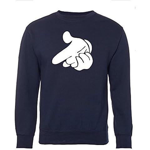Inspirada en la Unisex Mickey Mouse de mano de quita y Drake pistola de cartucho para máquinas de corte Jersey sudadera con capucha para-de manga corta de