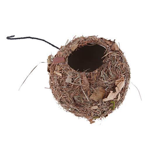 Vintage Bird House Feeder Nesting Box Bird Nest Colgando Adorno De Jardín DIY - H: casa...