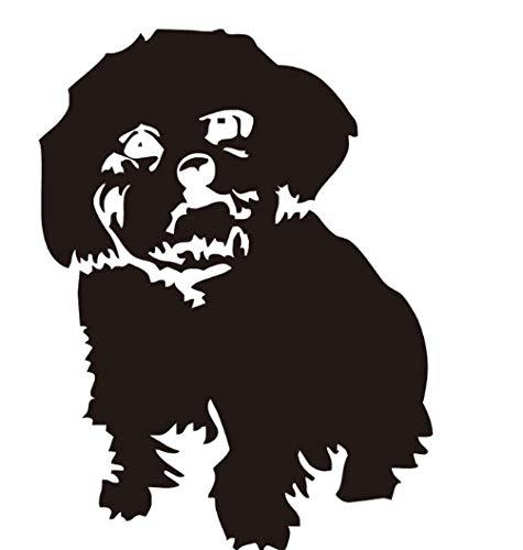 Wandaufkleber pvc silhouette tier schöne hund vinyl schlafzimmer dekoration abnehmbare diy abziehbilder kunst wandbilder wasserdicht - Schönen Speisesaal Möbel