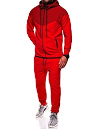 MT Styles ensemble pantalon de sport + sweat-Shirt jogging survêtement R-1054