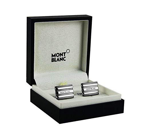 Montblanc Herren Steel Collection Silber Rechteckige Tantalum-Manschettenknöpfe 101535