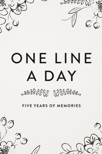 one-line-a-day-journal-five-years-of-memories-6x9-diary-dated-and-lined-book-floral-sketch