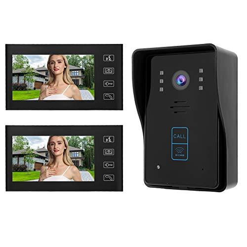Kit Teléfono Timbre Intercomunicador 2 Monitores