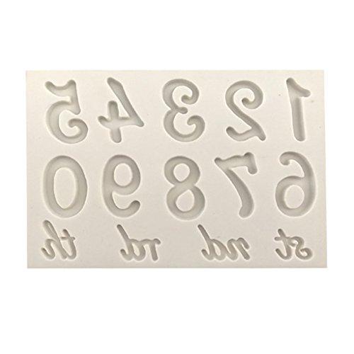 X 13-kuchenform 11 (Homyl Zahlen & Buchstaben Silikon Ausstechform Ausstecher Fondant - Zahlen, 9,2 x 5,3 cm)