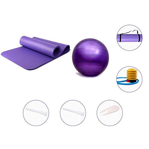 RUIX Gymnastikball (Berstsicher, Fitness-Ball, Sitzball, Yogaball, Pilates-Ball, Balance),A