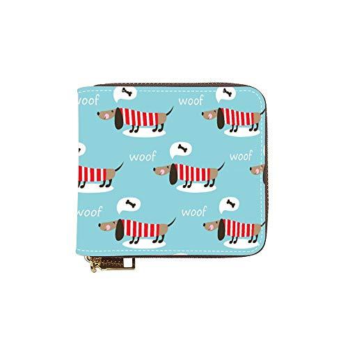 Hundfrauenkurzebrieftasche Brieftasche Kleine Kurze Handtasche Tasche Kurze Brieftasche Kupplung color157 12,0 * 9,5 * 2,5 cm -