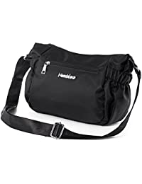 Crossbody Bag For Women Nylon Shoulder MessengerBags Water Resistant Multi Pocket Handbag Purse With Side Pockets...