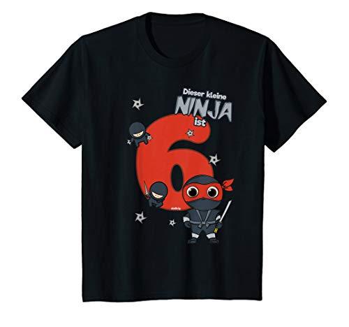Kinder Geburtstagsshirt 6 Jahre Ninja kleiner Ninja